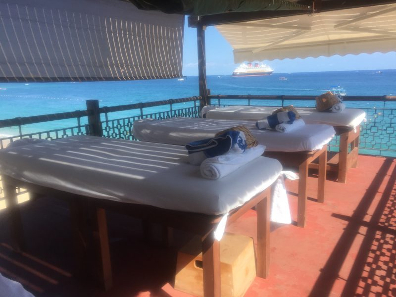 Massage Deck at the Sand Bar